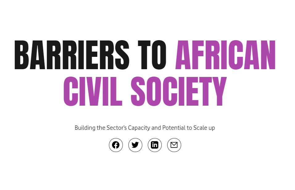 Barriers to African Civil Society: Building the Sector's Capacity and Potential to Scale Up
